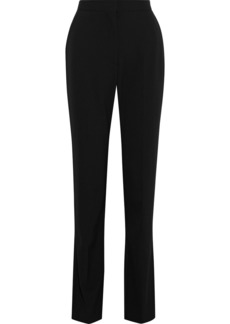 Stella Mccartney Woman Slit-front Stretch-twill Straight-leg Pants Black