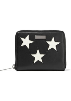 Stella Mccartney Woman Stars Faux Leather Wallet Black