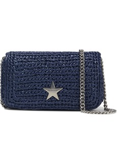 Stella Mccartney Woman Stella Star Faux Raffia Shoulder Bag Navy