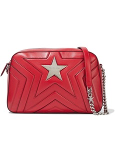 Stella Mccartney Woman Stella Star Quilted Faux Leather Shoulder Bag Red