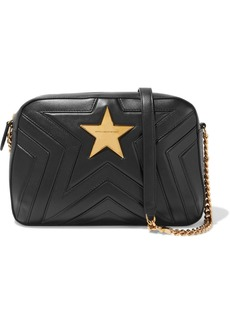 Stella Mccartney Woman Stella Star Quilted Faux Leather Shoulder Bag Black