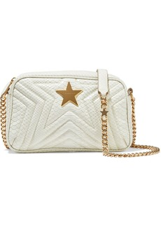 Stella Mccartney Woman Stella Star Small Quilted Faux Snake-effect Leather Shoulder Bag Ivory