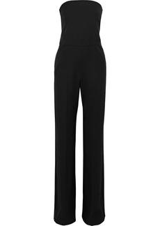 Stella Mccartney Woman Strapless Wool-crepe Jumpsuit Black