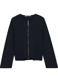 Stella Mccartney Woman Stretch-knit Cardigan Midnight Blue
