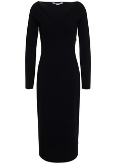 Stella Mccartney Woman Stretch-knit Midi Dress Black