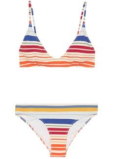Stella Mccartney Woman Striped Triangle Bikini Multicolor