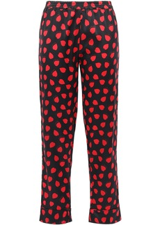 Stella Mccartney Woman Tara Tickling Printed Silk-blend Satin Pajama Pants Black