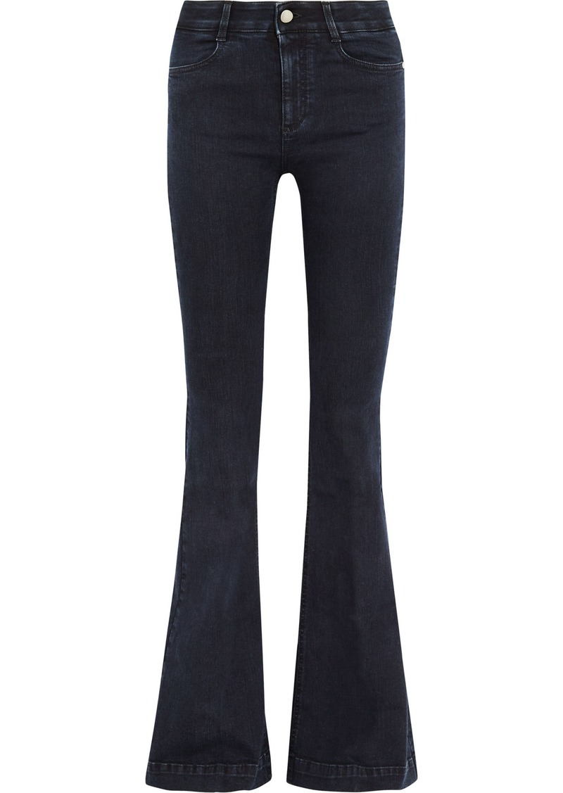 Stella Mccartney Woman The '70s High-rise Flared Jeans Dark Denim