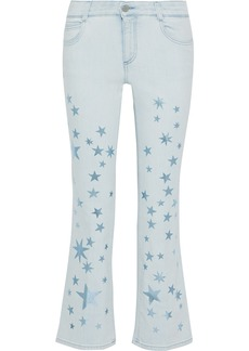 Stella Mccartney Woman The Skinny Kick Printed Mid-rise Bootcut Jeans Light Denim
