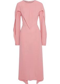 Stella Mccartney Woman Tie-back Layered Crepe Midi Dress Bubblegum