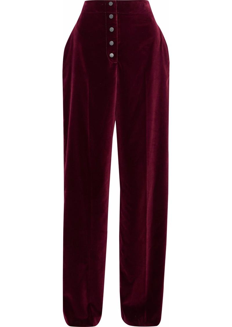 Stella Mccartney Woman Velvet Wide-leg Pants Burgundy