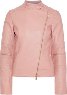 Stella Mccartney Woman Victoire Faux Leather Biker Jacket Baby Pink