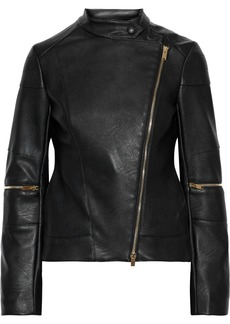 Stella Mccartney Woman Victoire Faux Leather Biker Jacket Black