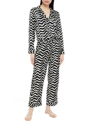 Stella Mccartney Woman Violet Hopping Printed Silk-blend Satin Pajama Top Black
