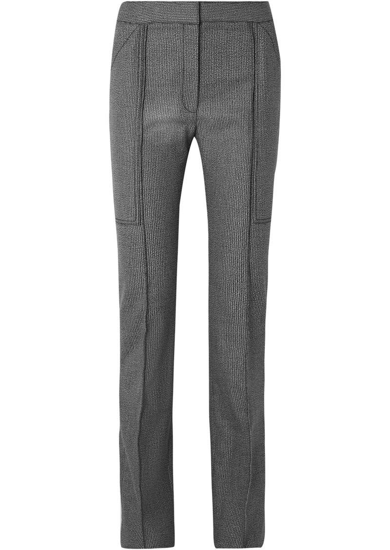 Stella Mccartney Woman Wool And Cotton-blend Straight-leg Pants Black