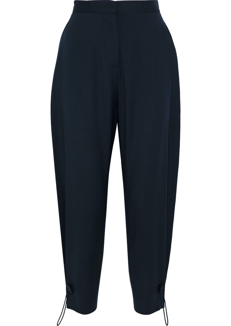 Stella Mccartney Woman Wool And Mohair-blend Tapered Pants Navy