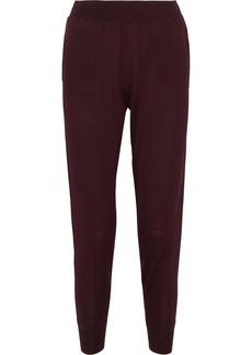 Stella Mccartney Woman Wool And Silk-blend Track Pants Burgundy