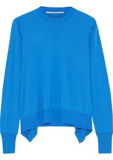 Stella Mccartney Woman Asymmetric Wool Sweater Azure