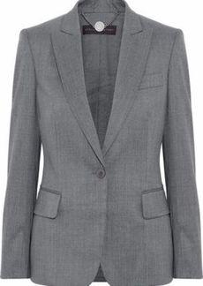 Stella Mccartney Woman Wool-twill Blazer Gray
