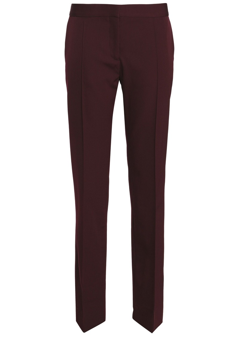 Stella Mccartney Woman Wool-twill Straight-leg Pants Merlot