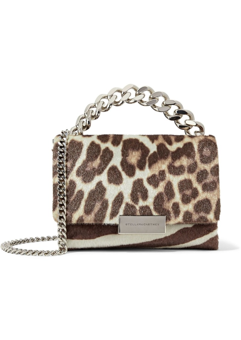 Stella Mccartney Woman Zebra And Leopard-print Faux Calf Hair Shoulder Bag Animal Print