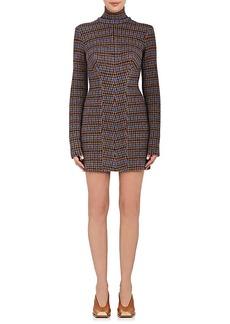 Stella McCartney Women's Checked Virgin Wool Mock-Turtleneck Dress