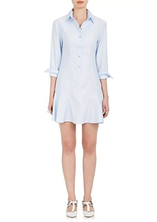 Stella McCartney Women's Cotton Poplin Flounce-Hem Shirtdress
