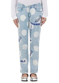 Stella McCartney Women's Embroidered Polka Dot Boyfriend Jeans