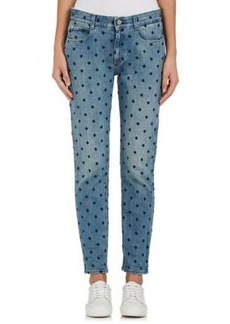 Stella McCartney Women's Embroidered Skinny Boyfriend Jeans
