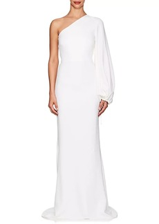 Stella McCartney Women's Kate Crepe One-Shoulder Gown