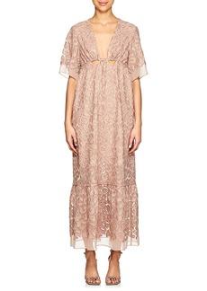 Stella McCartney Women's Leopard-Pattern Chiffon Dress