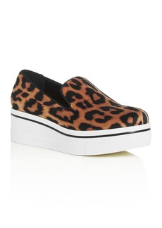 Stella McCartney Women's Leopard-Print Platform Wedge Sneakers