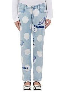 Stella McCartney Women's Oversized Polka Dot Boyfriend Jeans