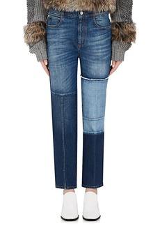 Stella McCartney Women's Patchwork Straight Crop Jeans