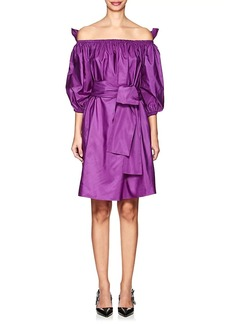 Stella McCartney Women's Reyna Taffeta Off-The-Shoulder Dress