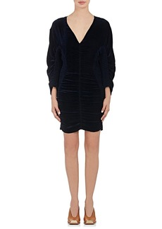 Stella McCartney Women's Ruched & Smocked Velvet Minidress