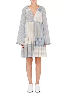 Stella McCartney Women's Striped Voile Tiered Dress