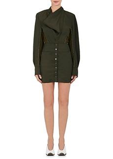 Stella McCartney Women's Twill & Faux-Suede Minidress