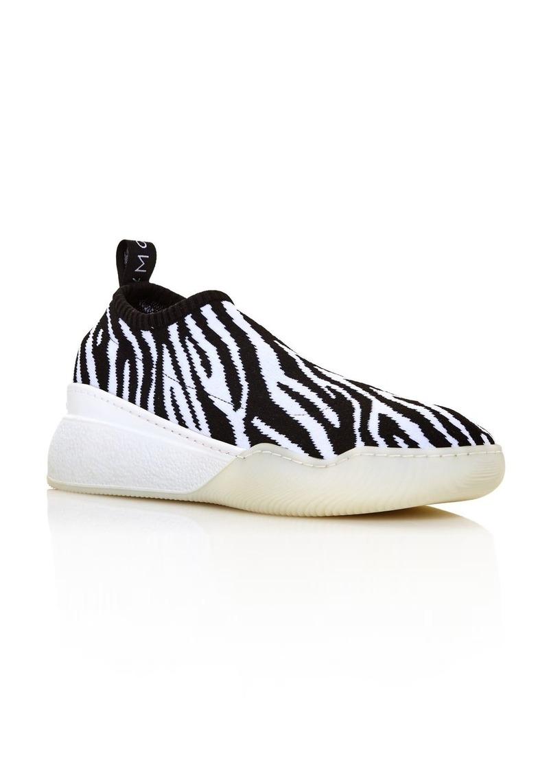 Stella McCartney Women's Zebra-Print Sock Sneakers