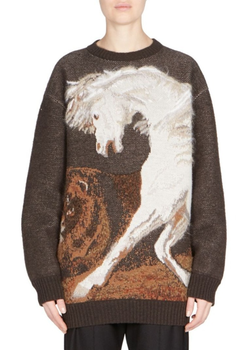 d40075d8567 Stella McCartney Stella McCartney Long-Sleeve Horse-Print Sweater ...