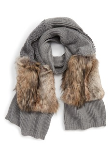 Stella McCartney Wool Scarf with Faux Fur Panels