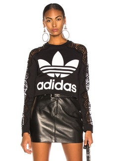 Stella McCartney x adidas Lace Sleeve Logo Sweatshirt