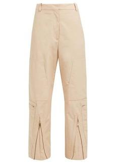 Stella McCartney Zip-front cotton-blend trousers