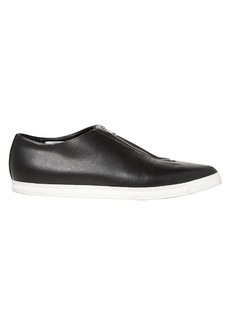 Stella McCartney Zip-front point-toe faux-leather flats