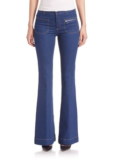 Zip Pocket Flare Jeans
