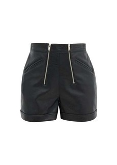 Stella McCartney Zipped faux-leather shorts