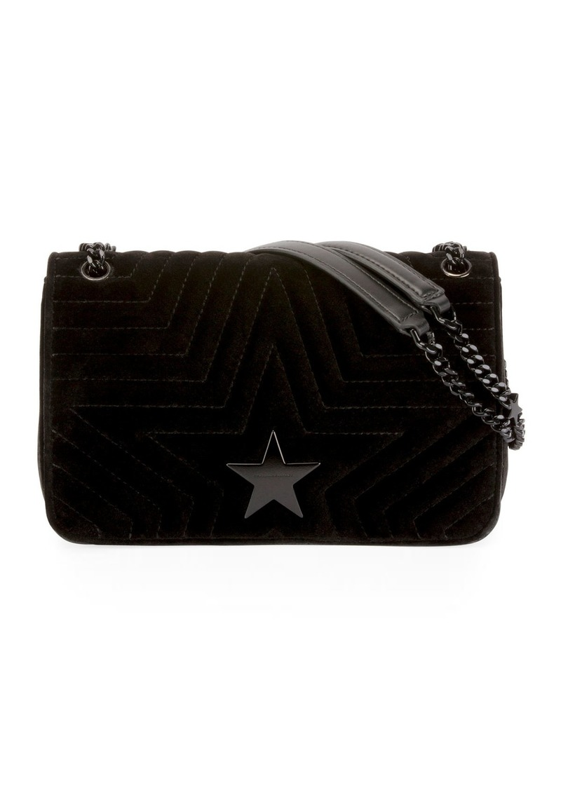 5d66c83c6076 SALE! Stella McCartney Stella Star Small Velvet Shoulder Bag