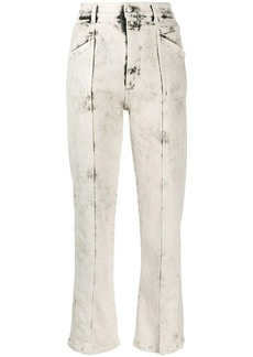 Stella McCartney stitched bleached straight jeans