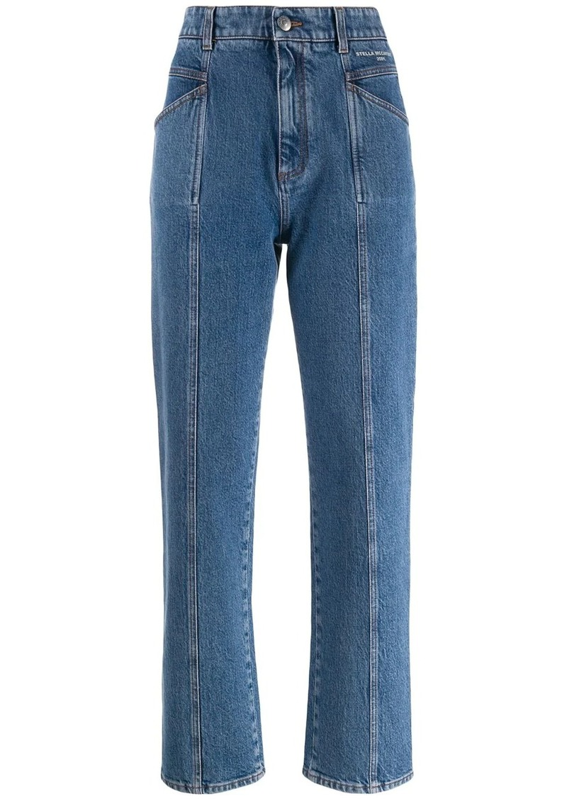 Stella McCartney stitched straight jeans