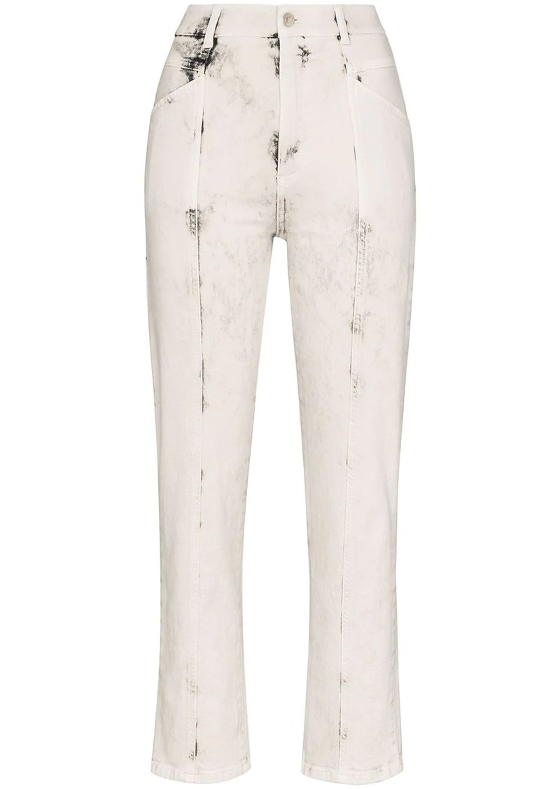 Stella McCartney acid-effect straight-leg jeans